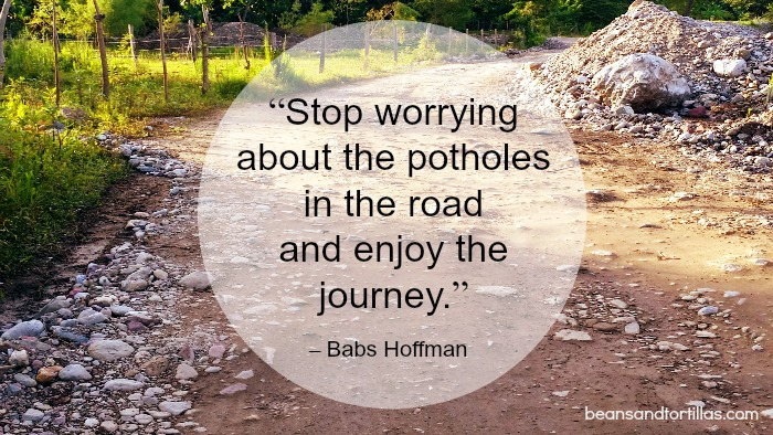 Stop worrying about the potholes