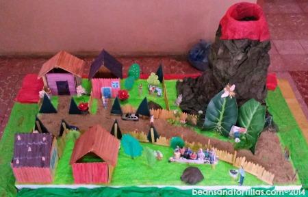 Volcano & Town